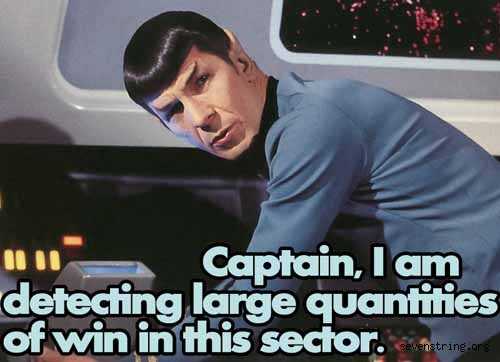 Spock Full of Win